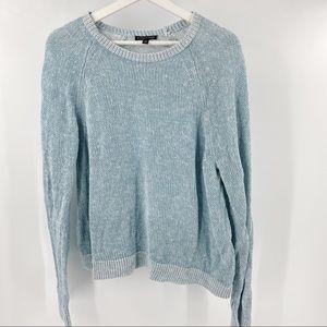 Eileen Fisher blue linen organic cotton sweater